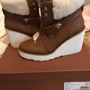 Coach leather boots 8.5